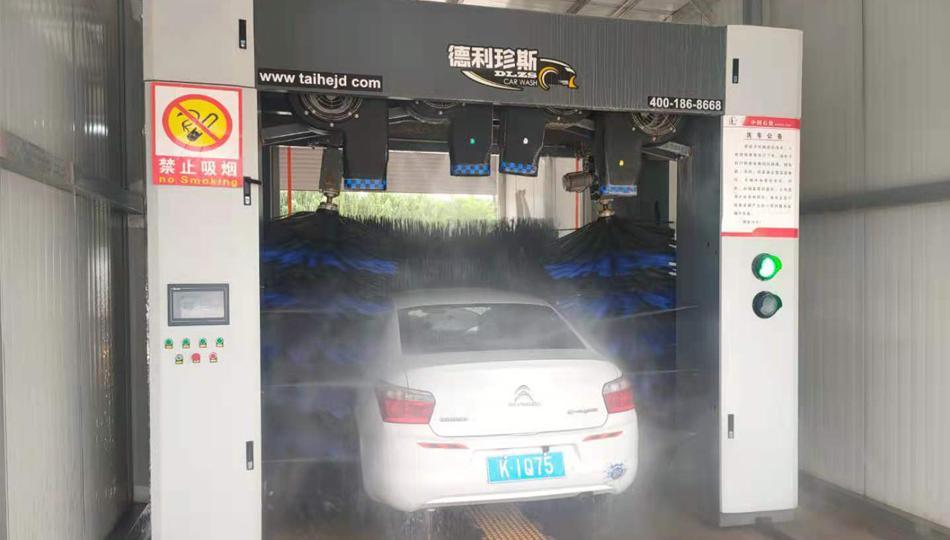 甘肃庆阳中石化加油站安装德利珍斯龙门机